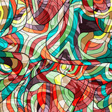 Seamless colorful background with curved lines Stock Image