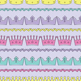 Seamless colorful  background with decorative crowns. Seamless colorful background with decorative crowns Royalty Free Stock Image
