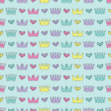 Seamless colorful  background with decorative crowns Stock Photography