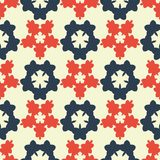 Seamless colorful background made of abstract floral elements Stock Images
