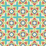 Seamless colorful background made of abstract geometric shapes. Illustration stock illustration