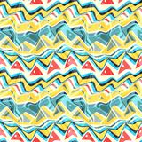 Seamless colorful background made of abstract shapes Royalty Free Stock Photography