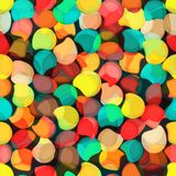 Seamless colorful background made of abstract shapes Stock Photo