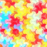 Seamless Colorful Background made of abstract shapes Stock Photography