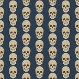 Seamless colorful background made of abstract skulls Stock Images