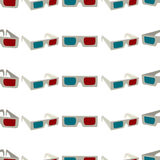 Seamless colorful background made of anaglyph glasses Royalty Free Stock Image