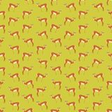 Seamless colorful background made of antelopes in flat design. Vector royalty free illustration