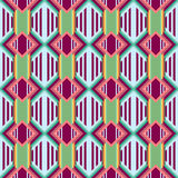 Seamless colorful background made of Aztec pattern Stock Photo