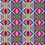 Seamless colorful background made of Aztec pattern Royalty Free Stock Images