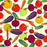 Seamless colorful background made of beetroot, carrot, tomato, e Royalty Free Stock Photos