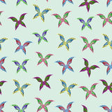 Seamless colorful background made of butterflies Royalty Free Stock Images