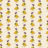 Seamless colorful background made of  cartoons of cute baby parr Royalty Free Stock Image