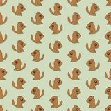 Seamless colorful background made of  cartoons of cute puppies Stock Image