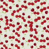 Seamless colorful background made of cherry in flat design Royalty Free Stock Image