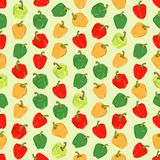 Seamless colorful background made of different pepper in flat de Royalty Free Stock Image