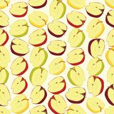 Seamless colorful background made of half of apples in flat desi Royalty Free Stock Image