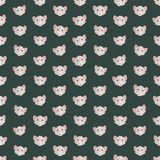 Seamless colorful background made of  heads of mouse in flat des Stock Photography