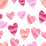 Seamless colorful background made of heart imitating colorful ch. Alk, illustration Royalty Free Stock Image