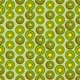 Seamless colorful background made of  kiwi in flat design. Vector Stock Photography
