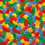 Seamless colorful background made of Lego pieces stock photography