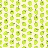 Seamless colorful background made of light green pepper in flat Royalty Free Stock Image