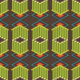 Seamless colorful background made of ornate geometric pattern Stock Images
