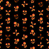 Seamless colorful background made of scary faces Royalty Free Stock Photography