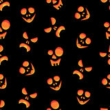 Seamless colorful background made of scary faces Stock Photography