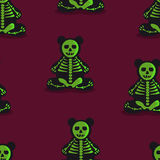 Seamless colorful background made of  Skeleton Toy Bear Stock Photos