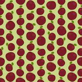 Seamless colorful background made of vinous apples in flat desig Royalty Free Stock Photos