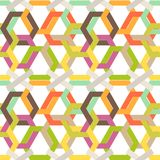 Seamless colorful background made of weaved hexagons Royalty Free Stock Photo