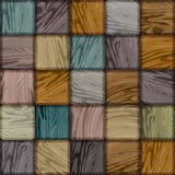 Seamless colorful background made of wooden tiles. Vector Royalty Free Stock Photo