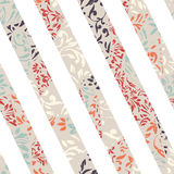 Seamless colorful background with straight lines filled with orn. Ate pattern, illustration Royalty Free Stock Photography