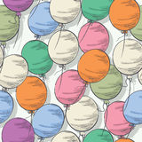 Seamless colorful balloon pattern Royalty Free Stock Photo