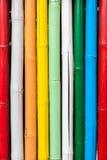 Seamless colorful bamboo stick striped pattern Royalty Free Stock Photo
