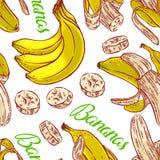 Seamless colorful bananas Stock Photography