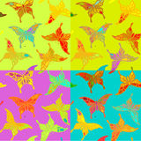 Seamless colorful butterfly pattern. Royalty Free Stock Photography