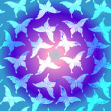 Seamless colorful butterfly pattern. Royalty Free Stock Photos
