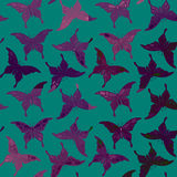 Seamless colorful butterfly pattern. Stock Image