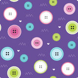 Seamless colorful button pattern vector illustration Royalty Free Stock Photography