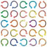 Seamless colorful cartoon horseshoes background vector illustration