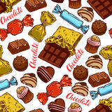 Seamless colorful chocolate candies Stock Images