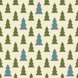 Seamless colorful Christmas and New Year pattern of firs Royalty Free Stock Image