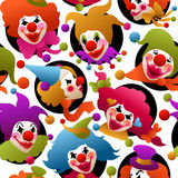 Seamless colorful clown portraits Royalty Free Stock Photo