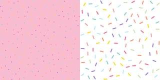 Seamless Colorful confetti sprinkle pattern wallpaper background. Vector illustration. Seamless Colorful confetti sprinkle pattern wallpaper background set stock illustration