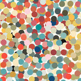 Circle colorful seamless. Seamless with colorful confettis on a light background Stock Images