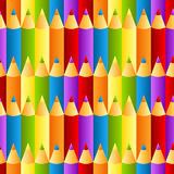 Seamless colorful crayons pattern background vector illustration