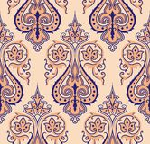 Seamless colorful damask background Stock Photography