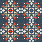 Seamless colorful damask pattern Royalty Free Stock Image