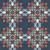 Seamless colorful damask pattern Royalty Free Stock Image